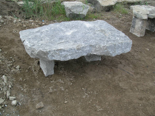 Natural Stone Headstones : Natural stone benches aggregate lights and